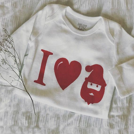 Christmas Baby Clothes I Love Santa Baby Onesie Holiday Au Lait
