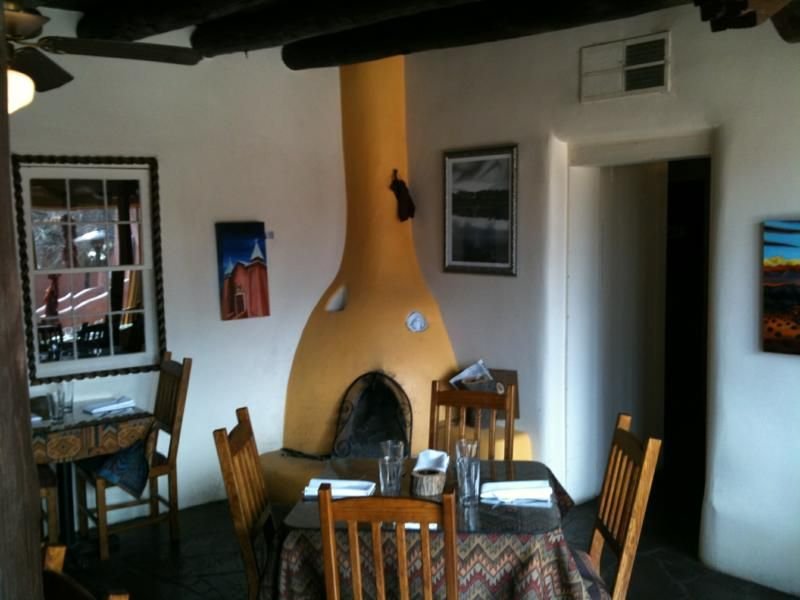 Yellow Kiva Style Fireplace In The Old Casa Vieja Restaurant Corrales Nm