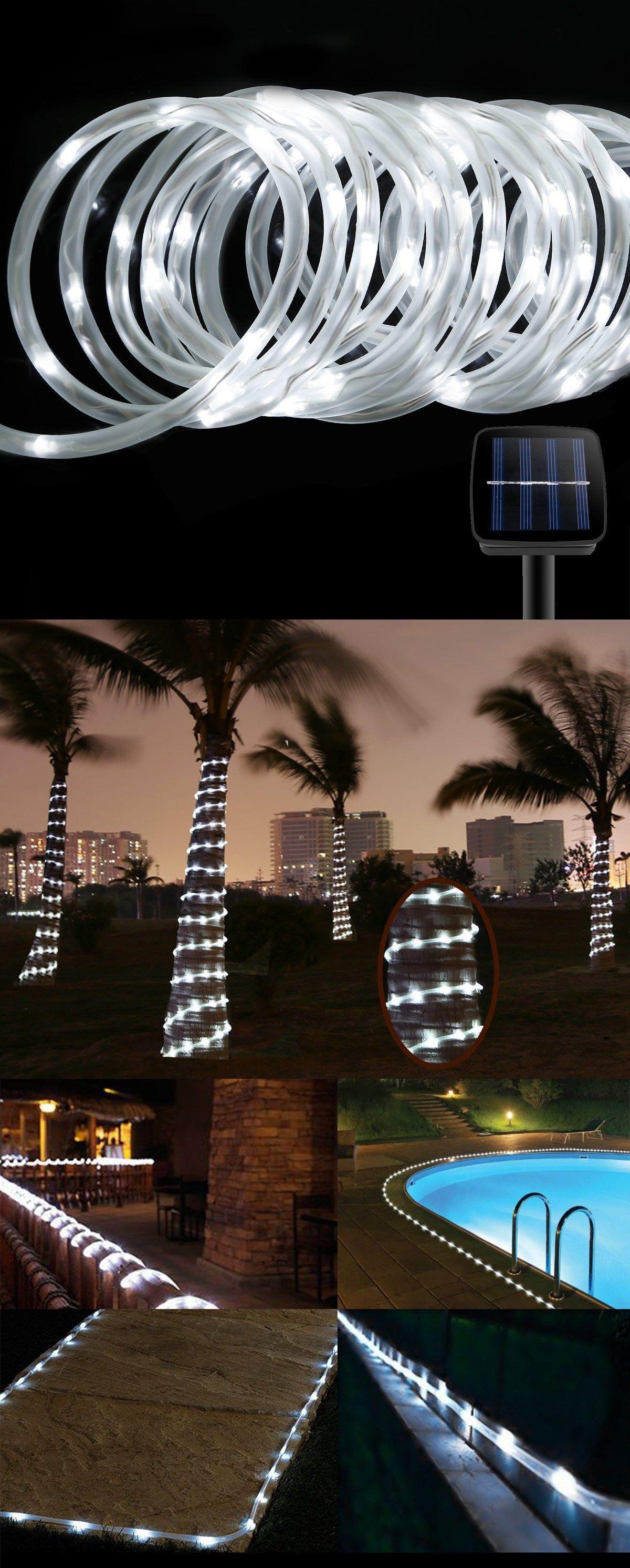 Christmas Rope Lighting Exterior Solar Rope Lights Homebnc 30 Best