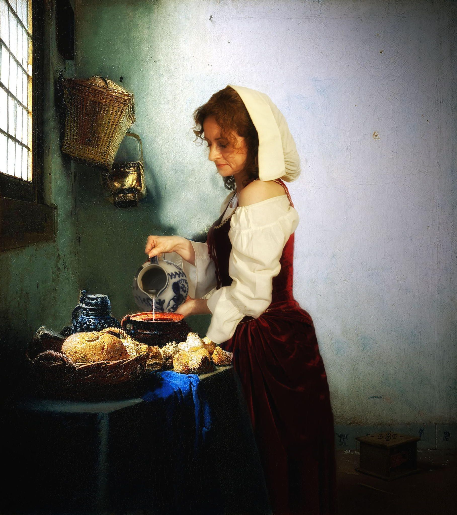Kitchen Maid Granddaughter New Vision Of Vermeer S Famous