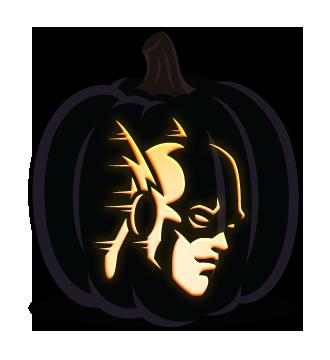 The Flash Superhero Pumpkin Template Holiday Halloween