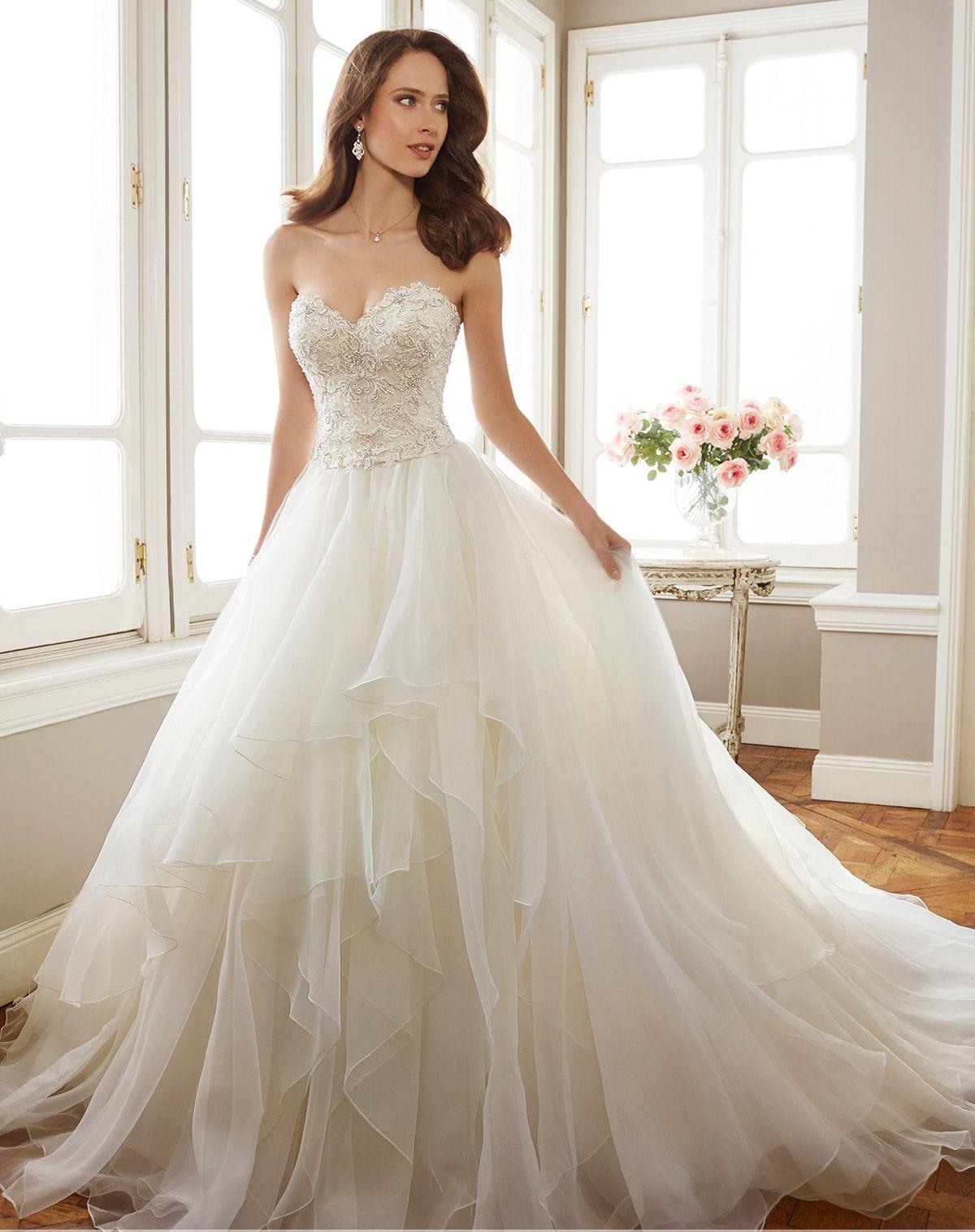 Trägerloses Hochzeitskleid 2017 | Brautkleider | Pinterest | Wedding ...