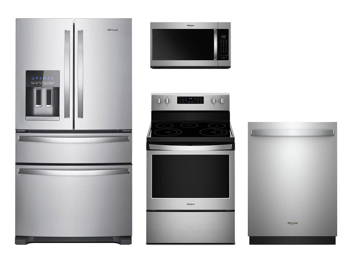 Whirlpool Stainless Steel 4 Pc Kitchen Suite Appliances
