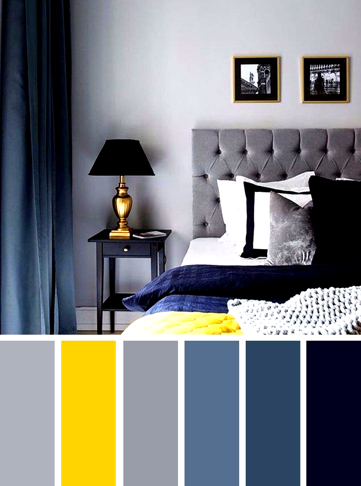 Gray And Yellow Bedroom Ideas Navy Blue Grey And Yellow Col In
