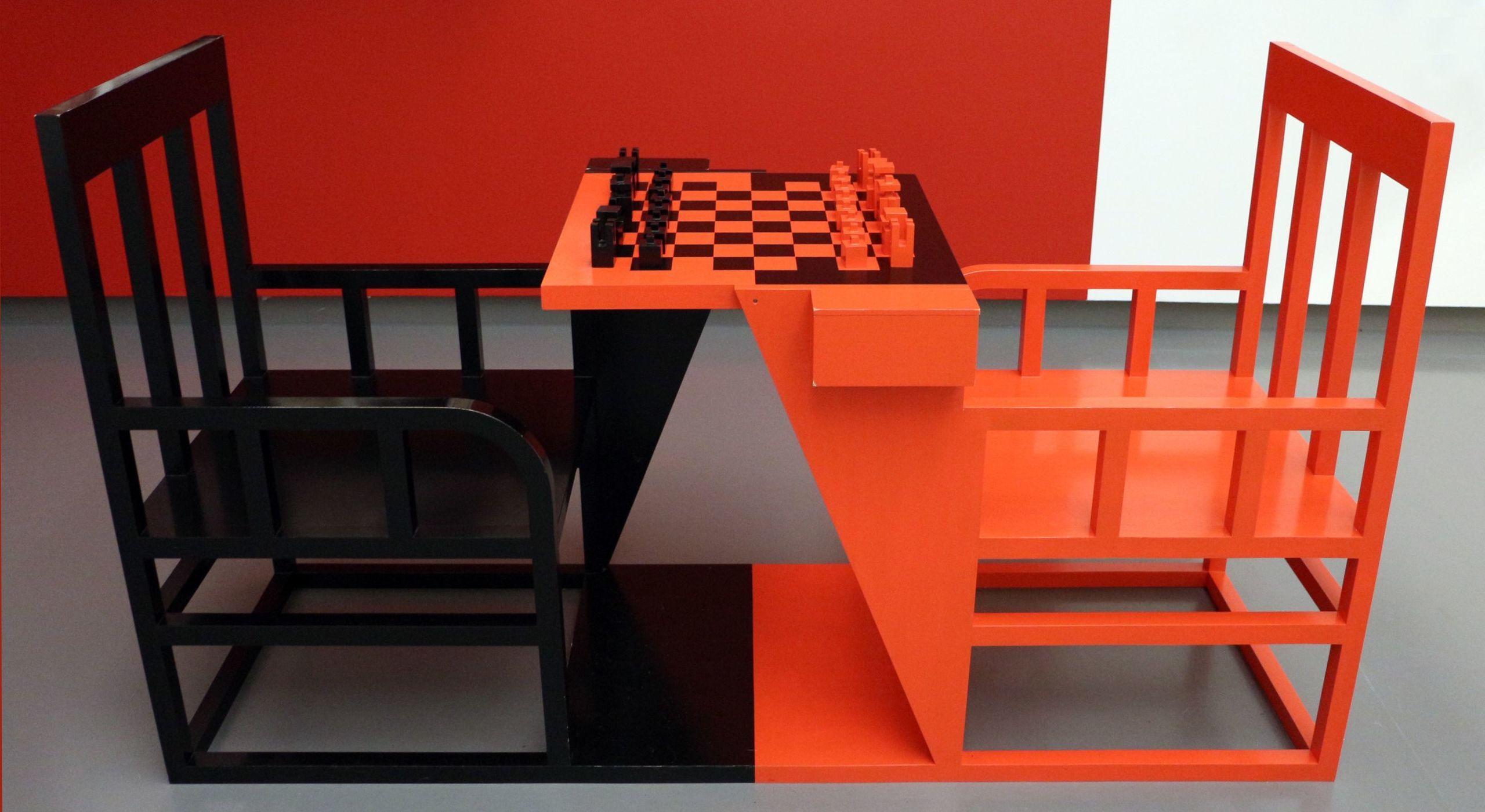 Alexandr rodchenko scacchi da dopolavoro pro taz 1925 ricostruito nel 2007 01