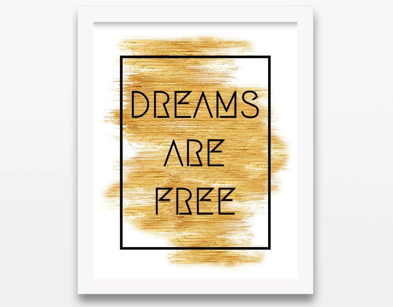 DIGITAL Dreams are Free Print Fashion by aprilmarionART on Etsy