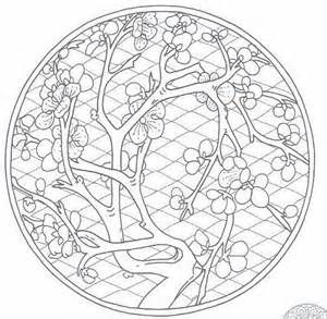 Chinese Cherry Blossom Coloring Pages Bing Images Adult and