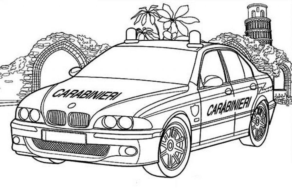 Online Printable Carabinieri Cop Car Coloring Page Cars Coloring