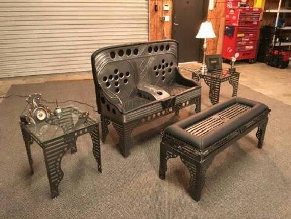Steampunk Art Car Part Furniture Decoration Canape