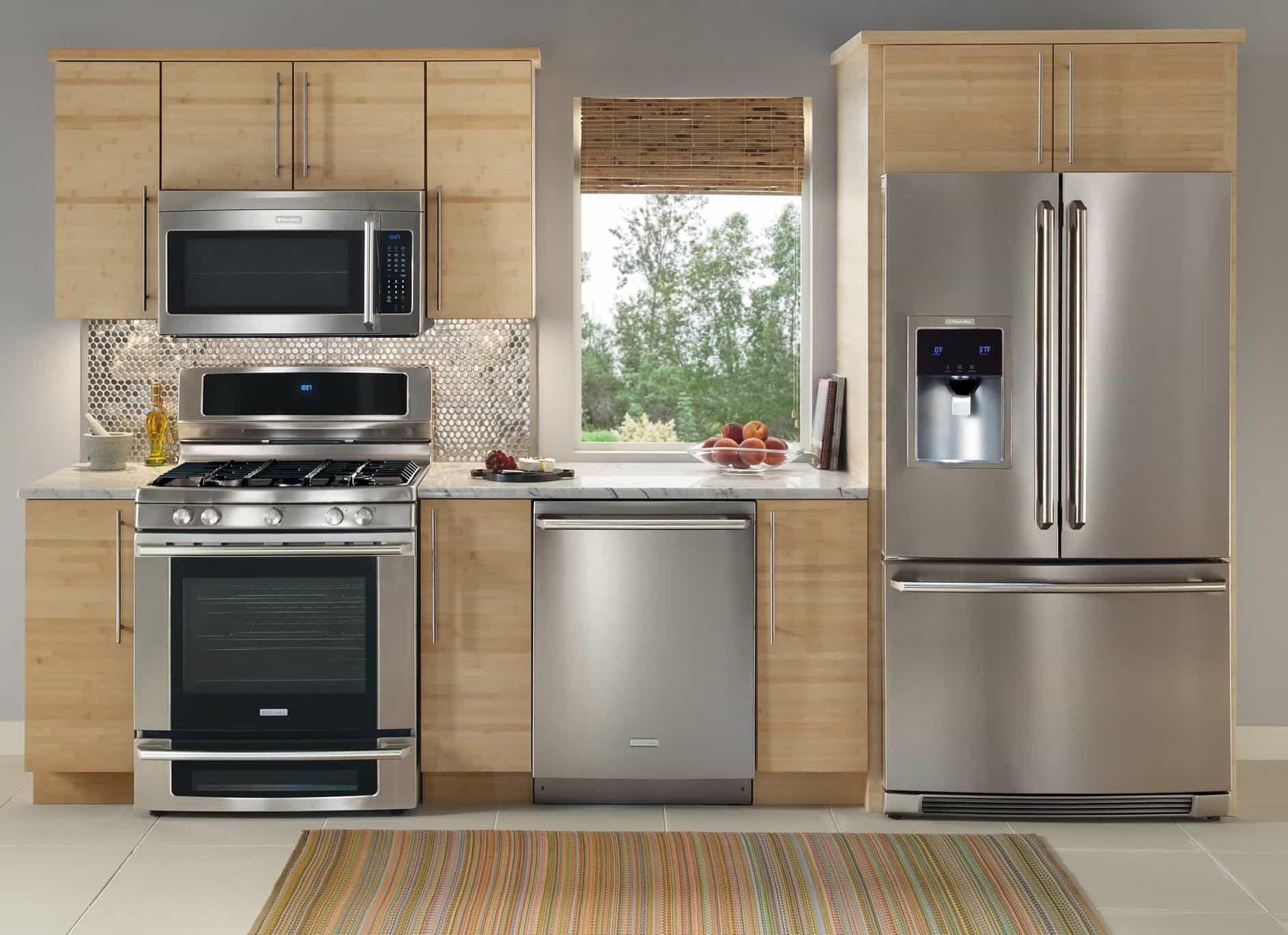Langlebige Und Beliebte Edelstahl Kuchengerate Denken Sie Daran Einheitlic Kitchen Appliance Set Stainless Steel Kitchen Appliances Kitchen Appliance Packages