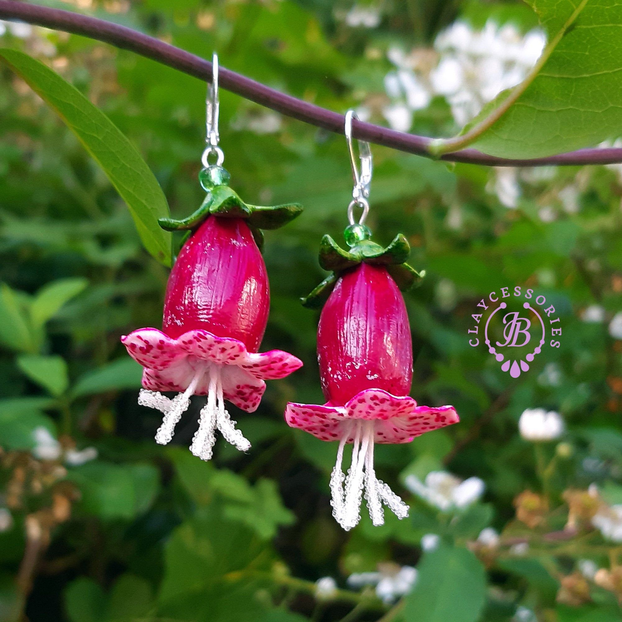 Bell flowers earrings Botanical earrings with bell flowers
