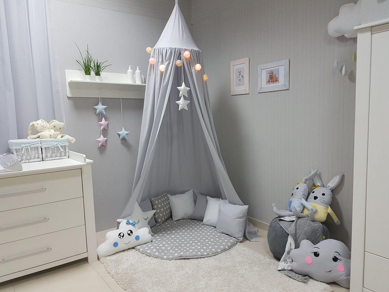 Babymajawelt Betthimmel Baldachin Grau Xxl Stars Sterne