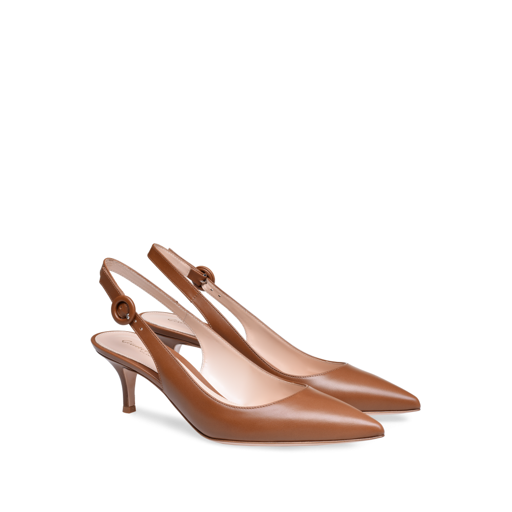 Anna Pumps Woman Gianvito Rossi Heels Elegant Shoes Kitten Heel Shoes