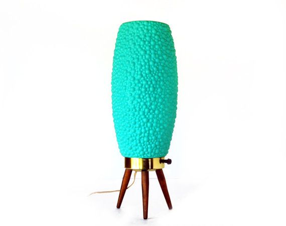 Beehive Lamp Mid Century Modern165 Teal By Theatomicattic On Etsy