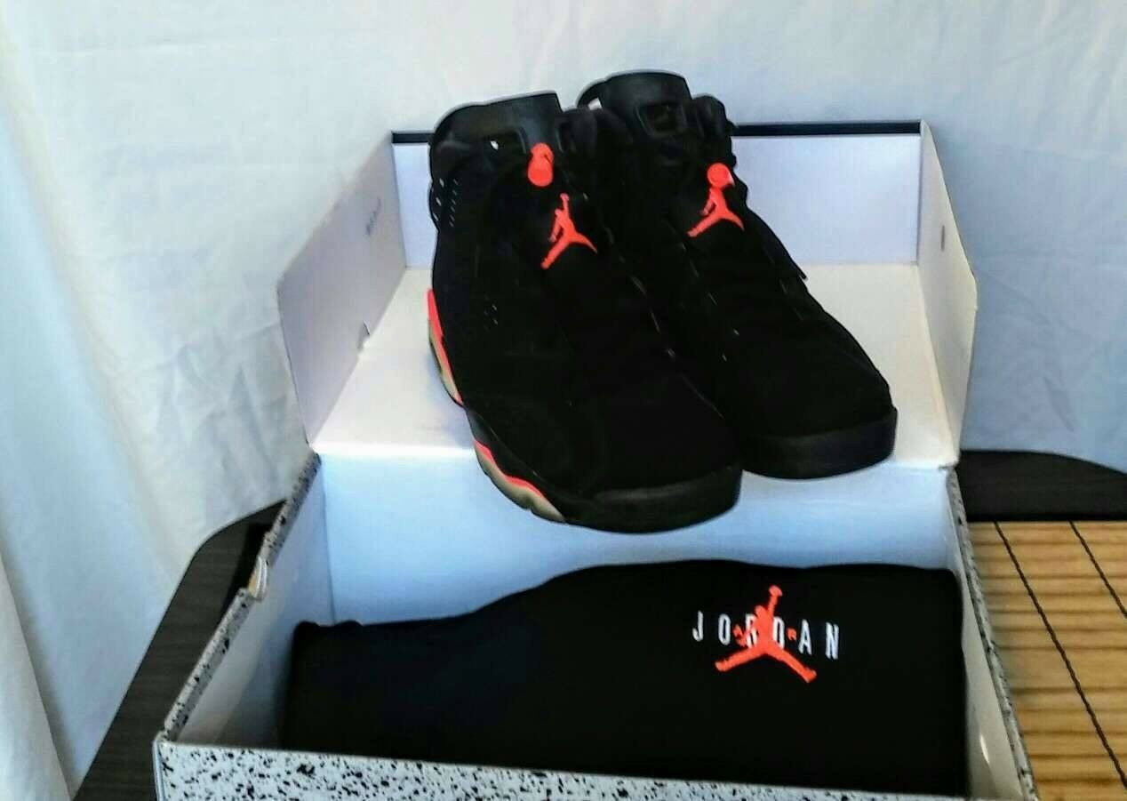 separation shoes f2300 3539f Air Jordan Retro 6 VI BLACK INFRARED With L SHORTS 2014 - size 12