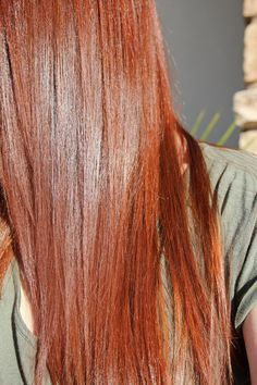 Henna Hair Dye Tutorial Diy For Medium Brown Hair Before And After