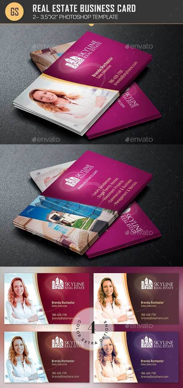 Real Estate Business Card Template | Real estate business, Card ...