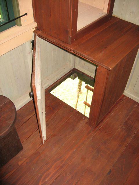 hidden door inside treehouse