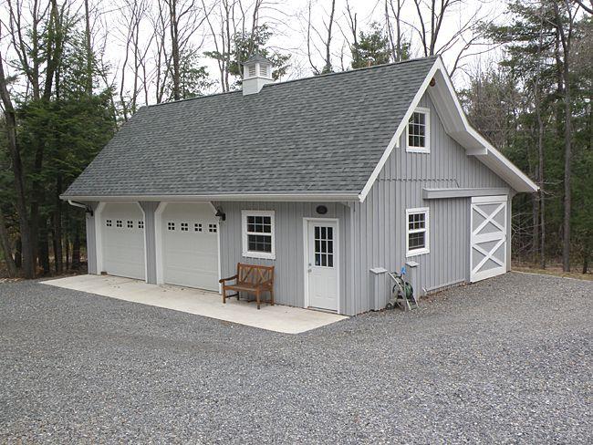 Garage With Small Shop Area Barn Garage Barn Style Barn House
