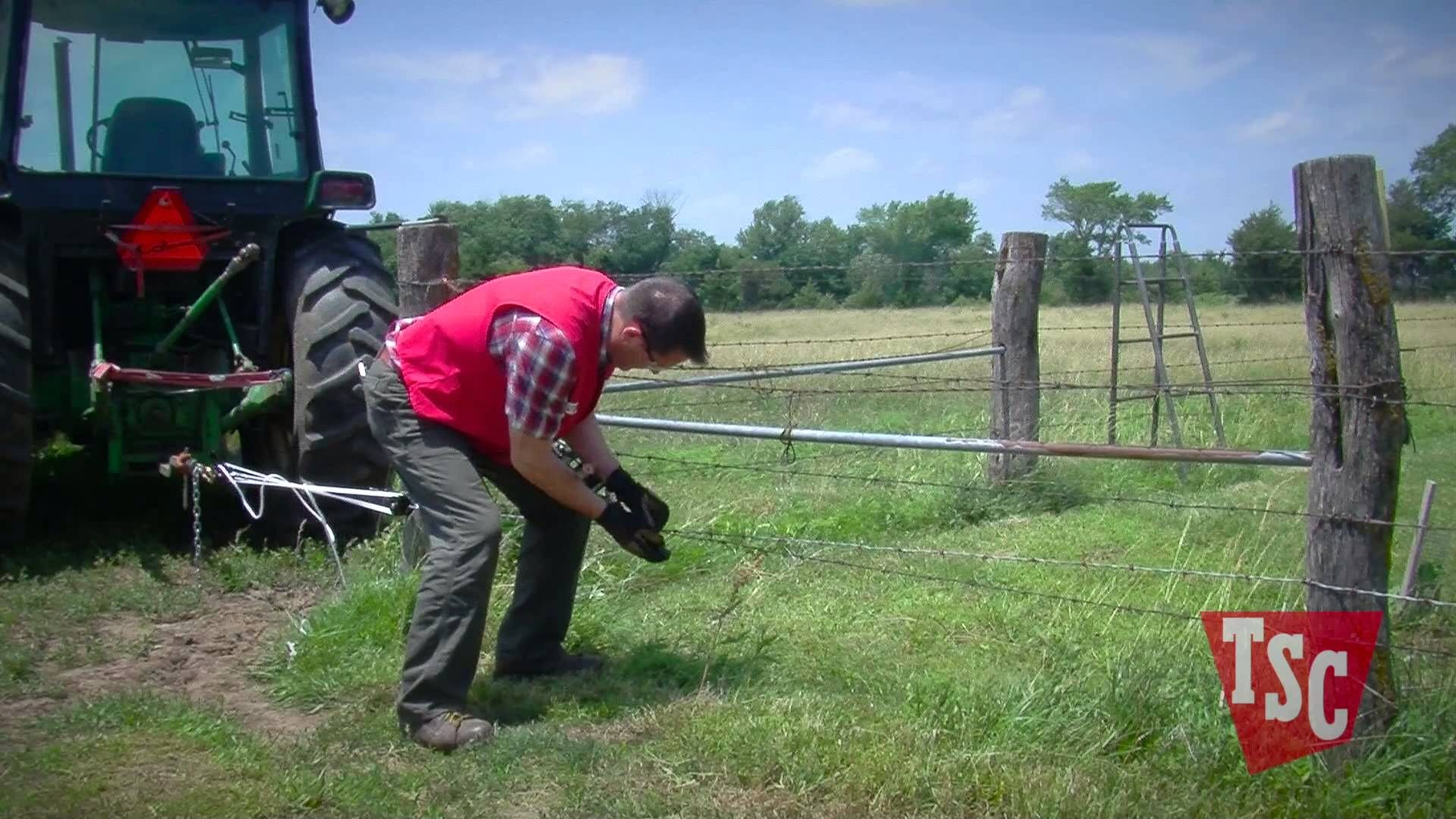 Stretching Barbed Wire Proper wire tension is of key importance to a ...