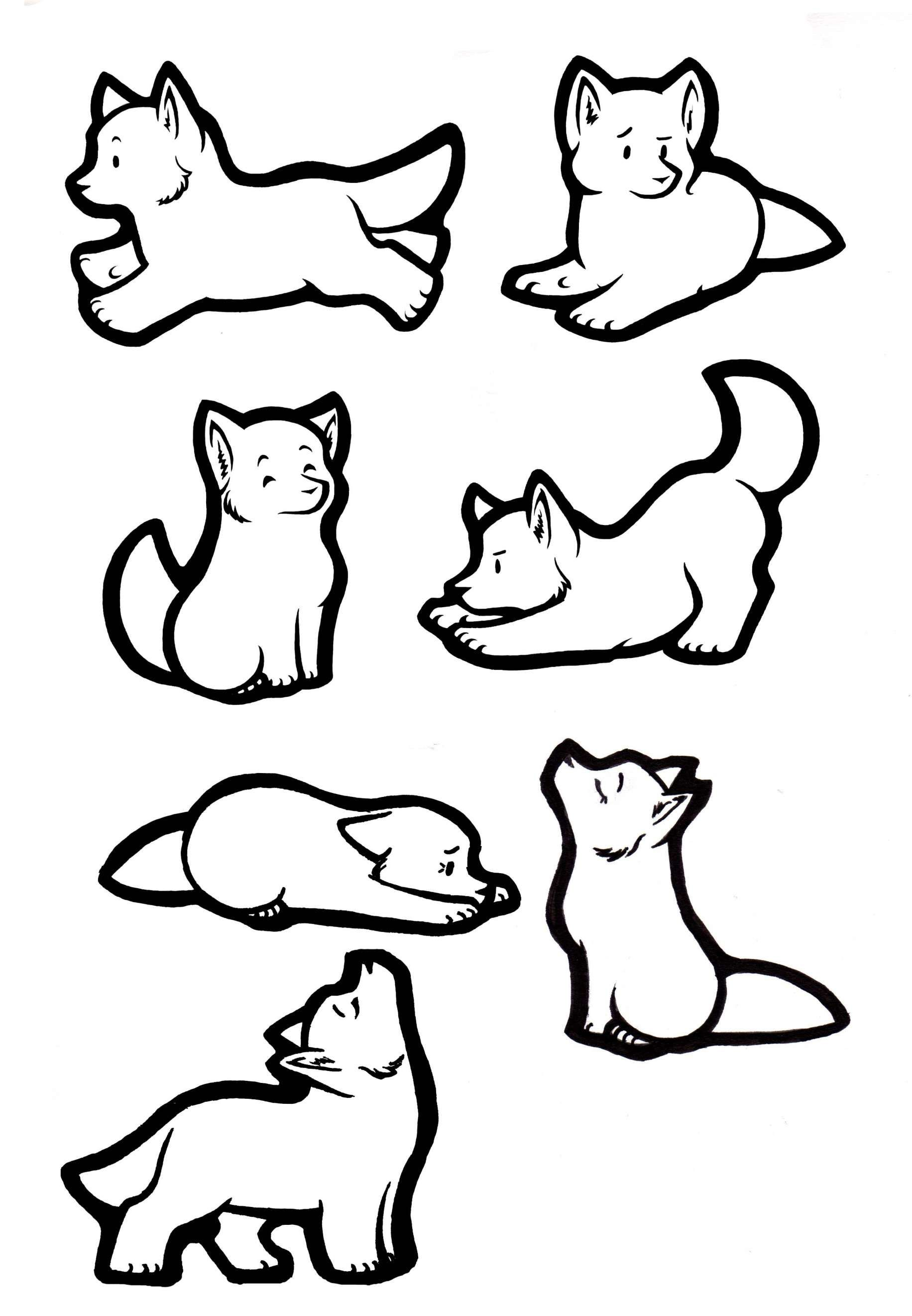 16+ Baby Wolf Howling Drawing Animal Anime Cartoon