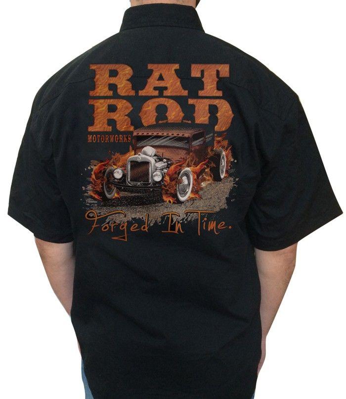 KSK Rat Rod Embroidered Twill Work Shirt Back