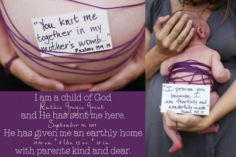 I think this is lovely way to express the sacredness of birth from a Christian perspective.