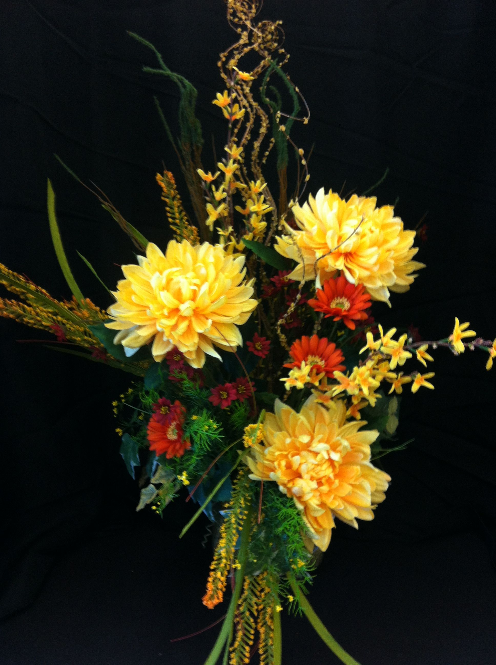 Golden shades of summer custom floral by Andrea for Michaels Laverne ca