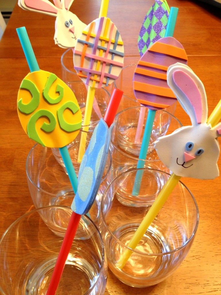 Easter Straw Crafts Get Straws From Nursing Home Easter Craft