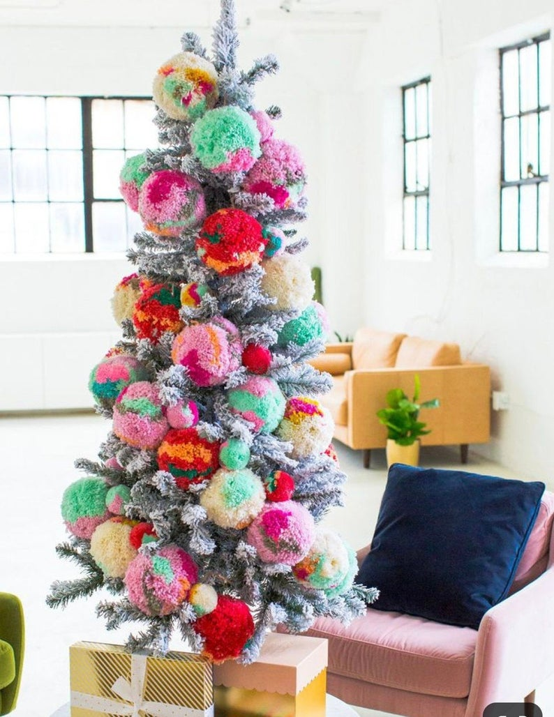 Jumbo Pom Pom Ornaments Best Christmas Tree Decorations Cool Christmas Trees Christmas Tree Decorations