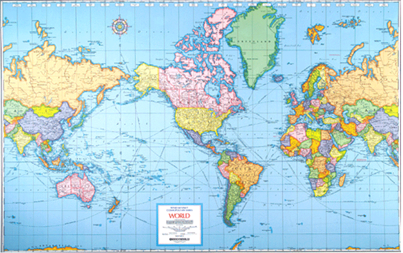 The world isnt even close to what you think it looks like mercator map is not an accurate scale gumiabroncs Choice Image