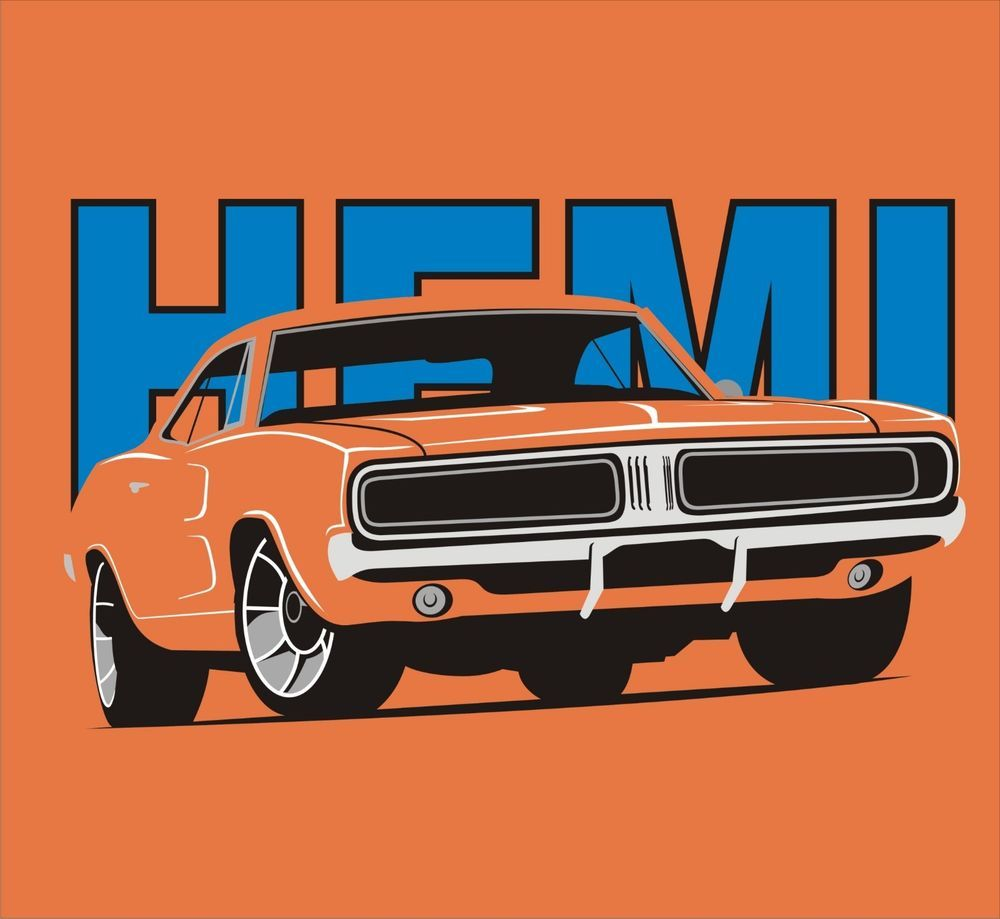 b80cbef0b Dodge Charger Hemi Classic Car Design Retro American Muscle Car T Shirt  Gift #Gildan #Casual