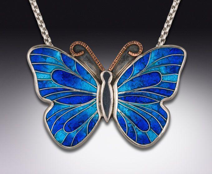 Cloisonne enamel jewelry fine art jewelry handmade jewelry in