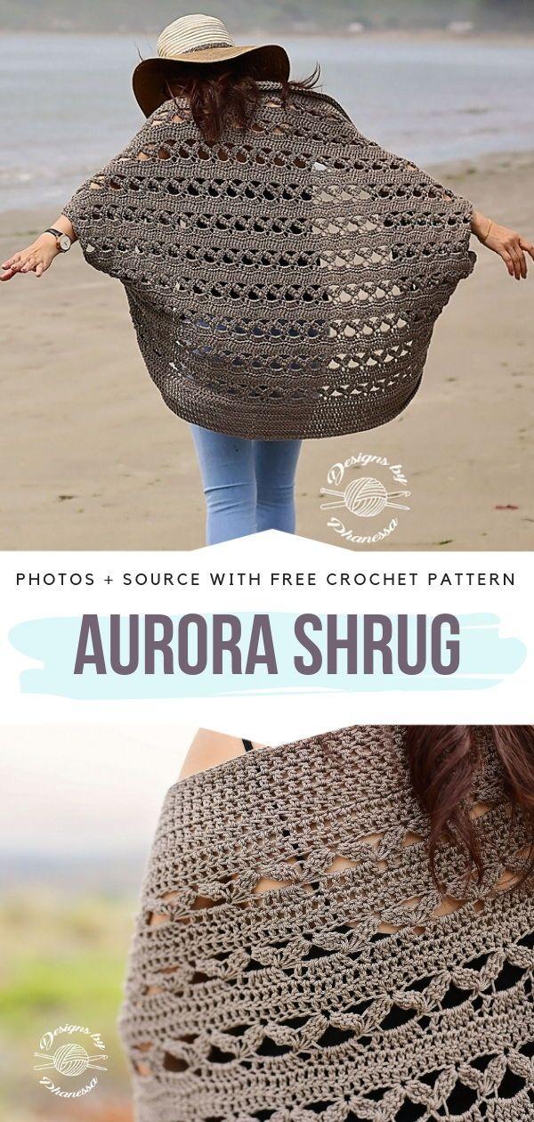 Crochet Lace Shrugs Free Patterns #crochetsweaterpatternwomen