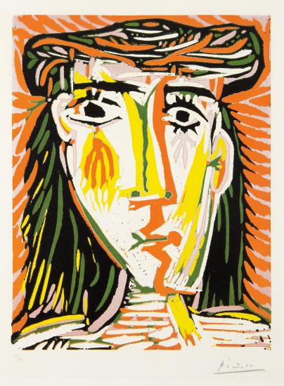 'Femme au chapeau' (Woman in a Hat) by Pablo Picasso, 1962