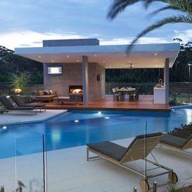 rolling stone landscapes, modern pool by dean herald-rolling stone landscapes | .residential, Design ideen