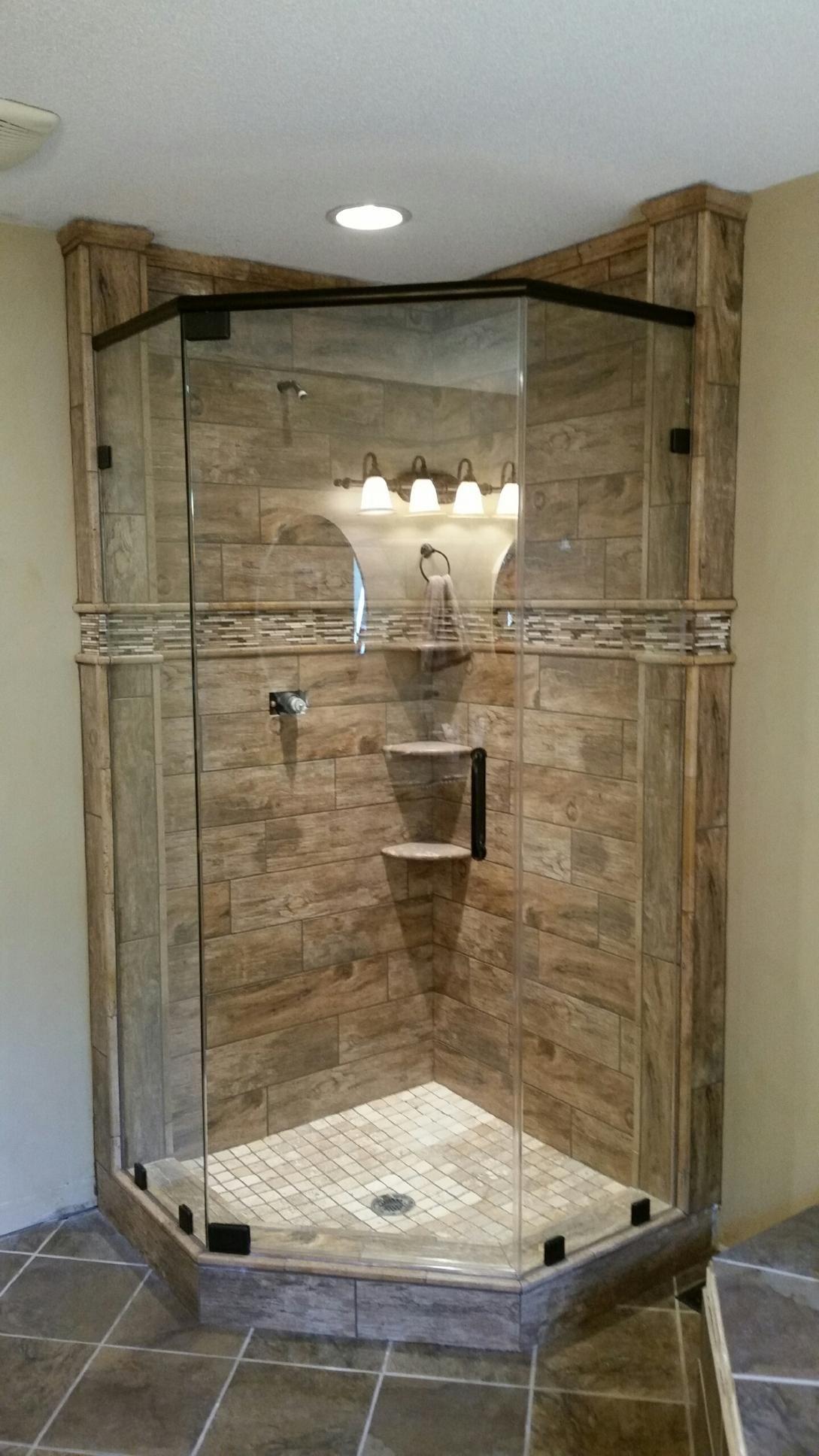 Captivating Frameless Shower Door For Modern Bathroom Decoration