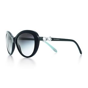 Bow cat eye sunglasses in black and Tiffany Blue acetate.