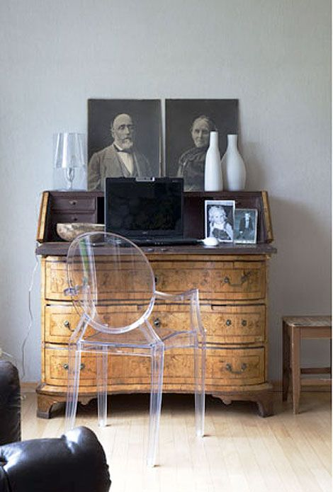 Ghost Chair! I Have A Similar Set Up In My Living Room With A Kartell