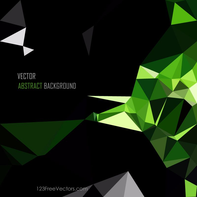 Polygonal Triangular Black Green Wallpaper Background Green Wallpaper Wallpaper Backgrounds Cool Backgrounds