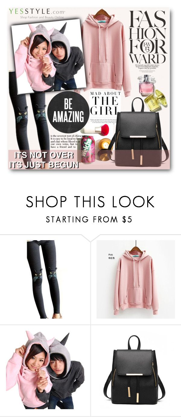 """YesStyle"" by t-871 ❤ liked on Polyvore featuring Kershaw, Little Flower, RINA, StreetStyle, hoodie and sweatshirts"