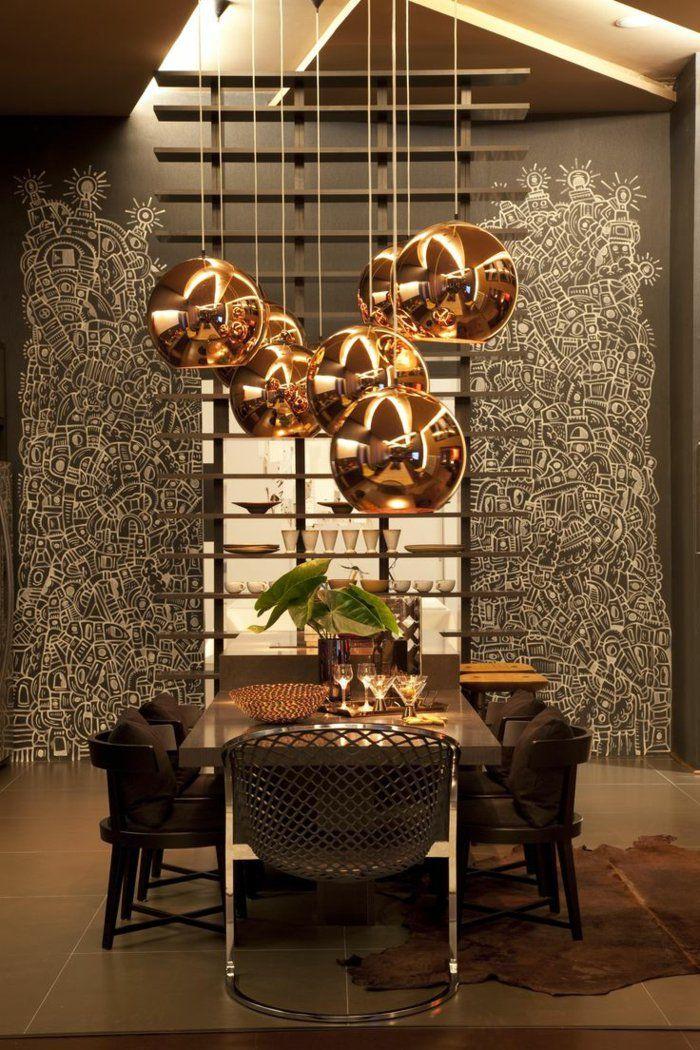 La suspension cuivre un beau accent pour chaque int rieur cuisine salon - Deco salon cuivre ...
