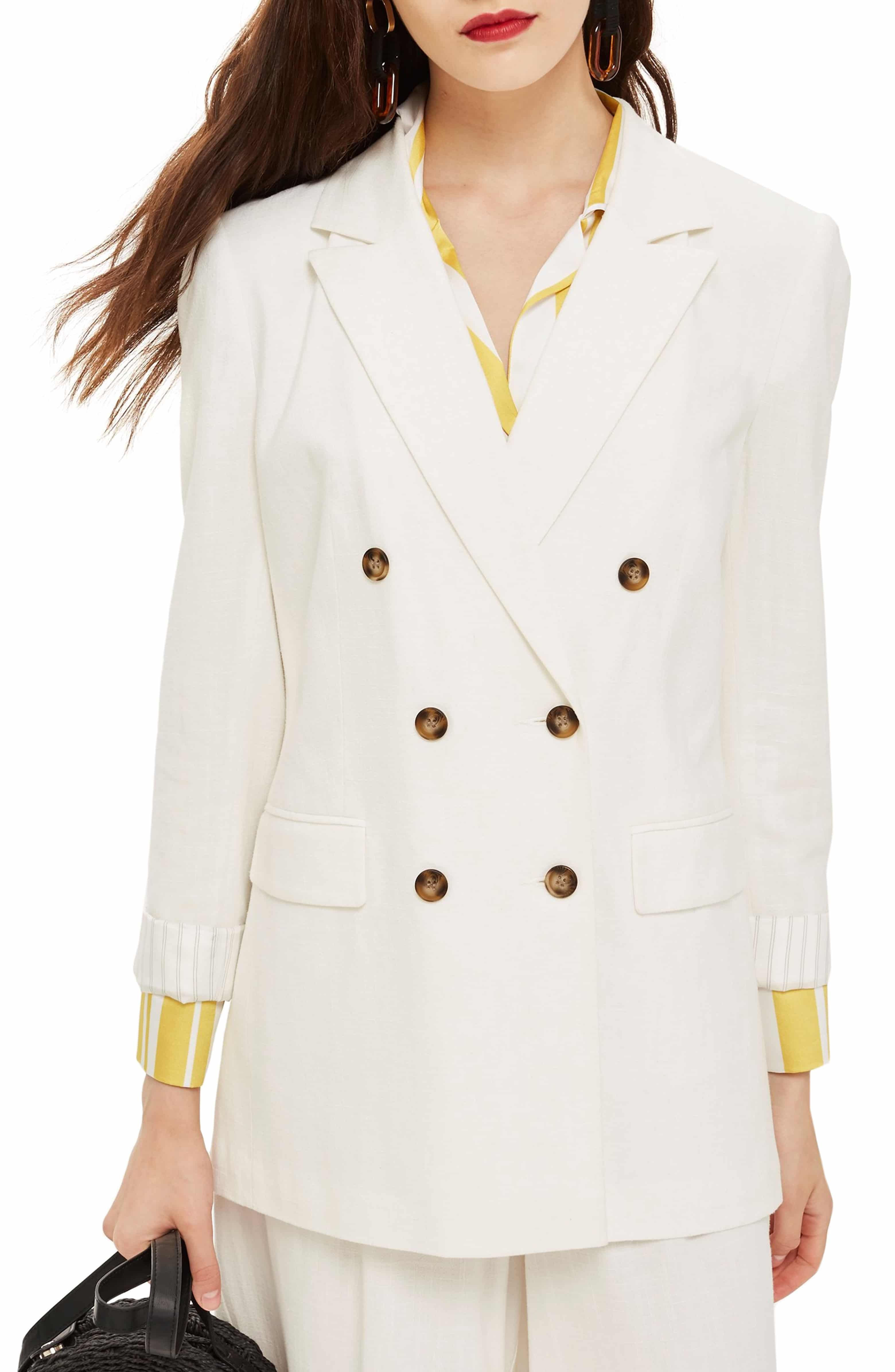 0e03f601d8c Double Breasted Blazer, Main, color, Ivory | My Style | Double ...