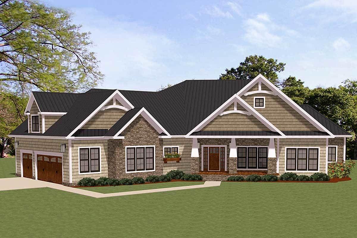 Spacious Craftsman House Plan with Optional Bonus