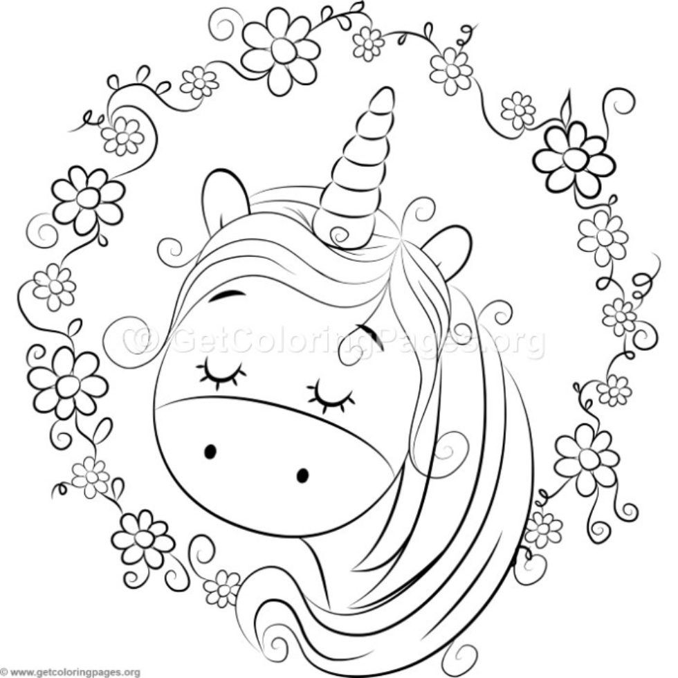 Cute Unicorn 5 Coloring Pages