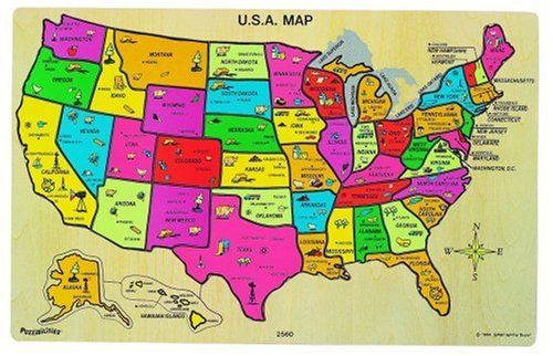 Ryans Room USA Map Puzzle 2015 Amazon Top Rated Pegged