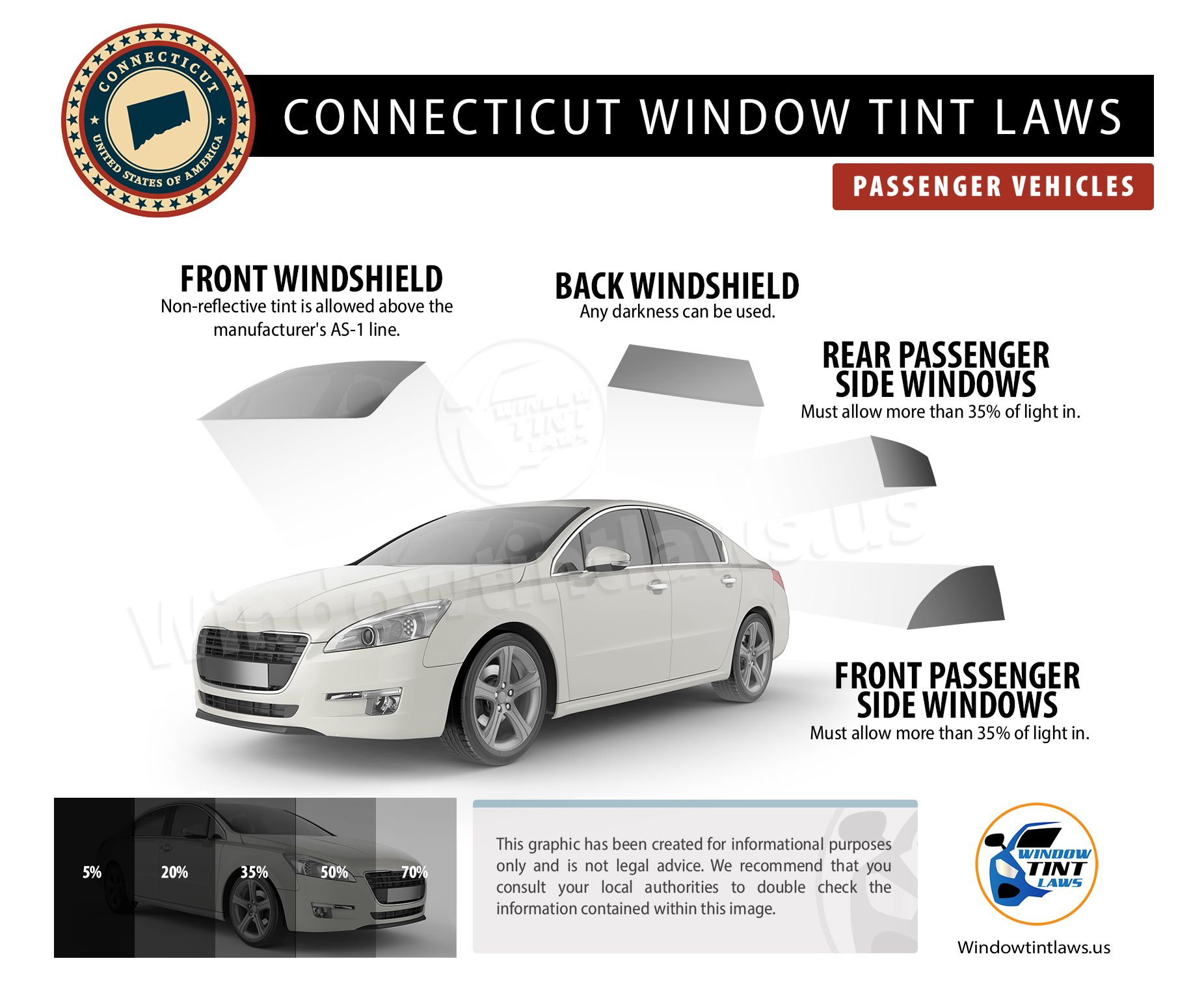 Connecticut Window Tint Law 2020 In 2020 Tinted Windows Tints Passenger Vehicle