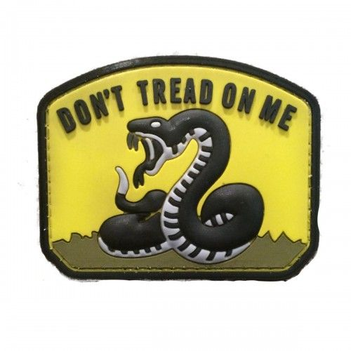 "5ive Star Gear Don't Tread on Me 2.25"" x 3"" Vinyl Morale Patch"