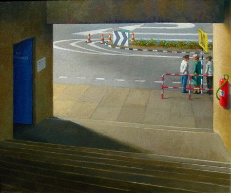 Jeffrey Smart Study for taxi stand 2002
