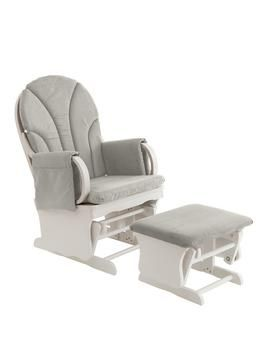 Gliding Nursery Chair gliding nursing chair with footstool - white | @giftryapp